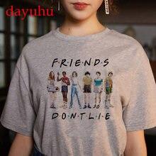 Stranger Things Season 3 T Shirt Upside Down Women Eleven Tshirt 90s Female Graphic Funny kawaii T-shirt Clothes Top Tee Shirts
