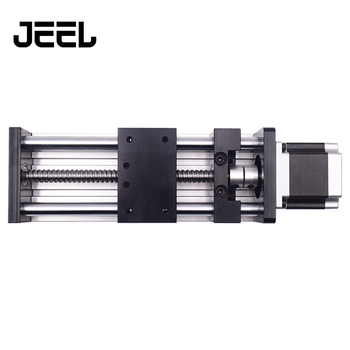 цена на Double optical axis ball screw slide table linear guide rail cross screw module stepper motor slide table+Nema23 57 motor