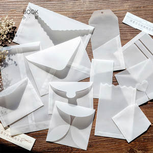 Envelope-Sets Sulfuric-Acid-Paper Transparent Beautiful Designs Creative DIY Multifunction