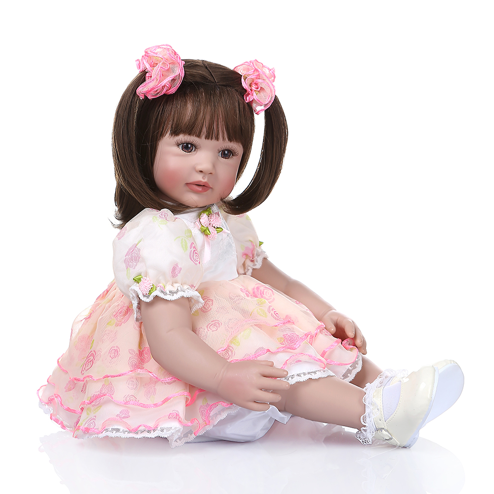 unique design reborn doll 60cm Large clothing model with cute magnet pacifier lovely toys for children on Birthday and Christmas