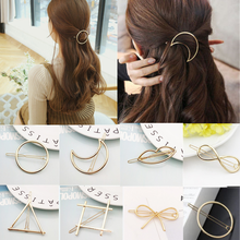 Girls Circle Moon Metal Hairpin