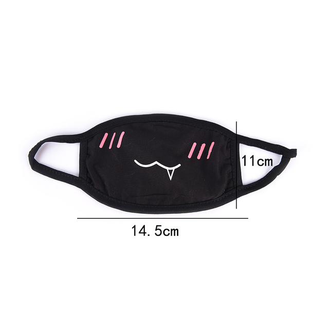 1PC Cotton Dustproof Mouth Face Mask Unisex Korean Style Kpop Black Bear Cycling Anti-Dust Cotton Facial Protective Cover Masks 5