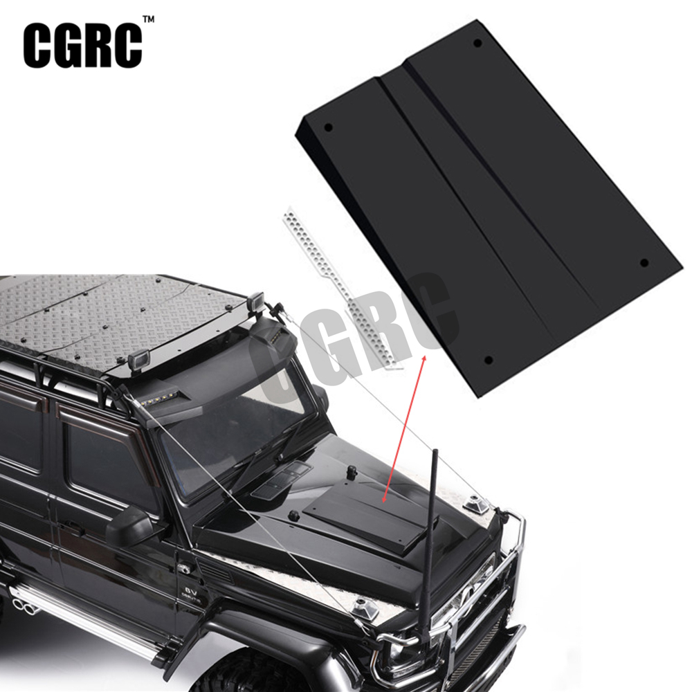 Plastic Engine Cover Air Inlet With Metal Grill For 1/10 RC Crawler Car Traxxas TRX4 G500 TRX6 G63 DIY Part