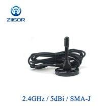 Antena del enrutador Wifi de 2,4 GHz para exteriores, con Base magnética, cobre, 2,4G, Omni SMA, WLAN, DTU, repetidor, TX2400 TB 300 aérea