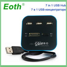 Micro USB Hub 2.0 Combo 3 Ports Card Reader High Speed USB Splitter All In One USB 3.0 Hub or PC Computer Accessories Notebook 5 25 usb 3 0 e sata all in 1 pc media dashboard multi function front panel card reader i o ports