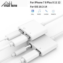 4 In 1 Headphone Adapter For iPhone 7 8 X XS 11 12 Jack Adaptador For Lightning To 3.5mm Audio Headphone Cable Charging Adapter
