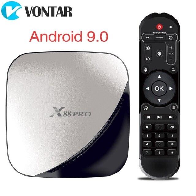 X88 PRO Android 9.0 TV Box Rockchip RK3318 4GB 64GB 2.4G 5GHz Dual Wifi USB3.0 4K 60fps Set Top Box Google Play YouTube