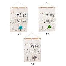 Over Door Wall Organizer Merry Christmas Bag Pocket Hanging Hanger Storage x
