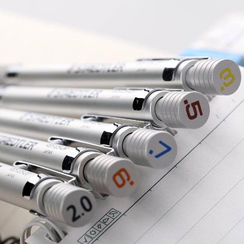 Staedtler – crayon mécanique automatique en Graphite, 1 pièce, argent 925 0.3 0.5 0.7 0.9 1.3 2.0mm (925 25-3/5/7/9/1.3/20)