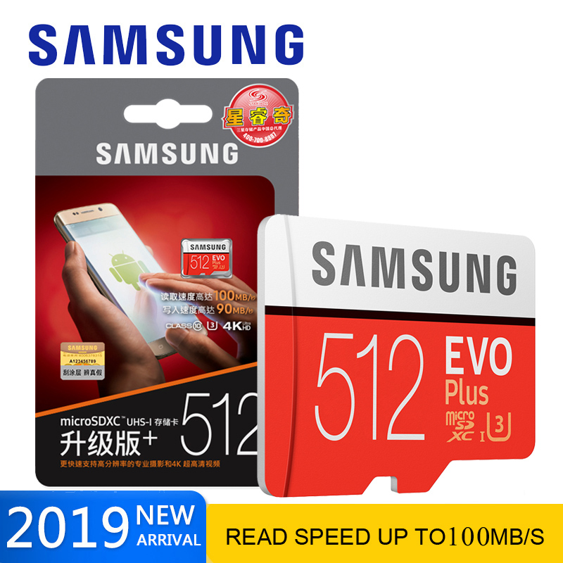 Carte mémoire SAMSUNG micro sd 512GB EVO Plus Class10 étanche TF 256GB micro sd Memoria carte Sim pour téléphones intelligents caméra