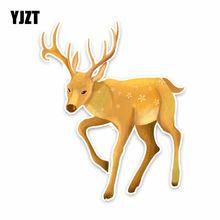 YJZT 15 см * 12,2 см прогулочная олень красивые ПВХ стикер автомобильный наклейки C29-0783