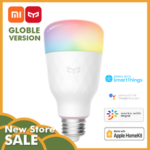 Xiaomi Mijia Mi ev Yeelight akıllı renkli 1700K-6500K E27 800lm ampul V2 E27 Amazon ALexa, google asistan, Apple Homekit APP(China)