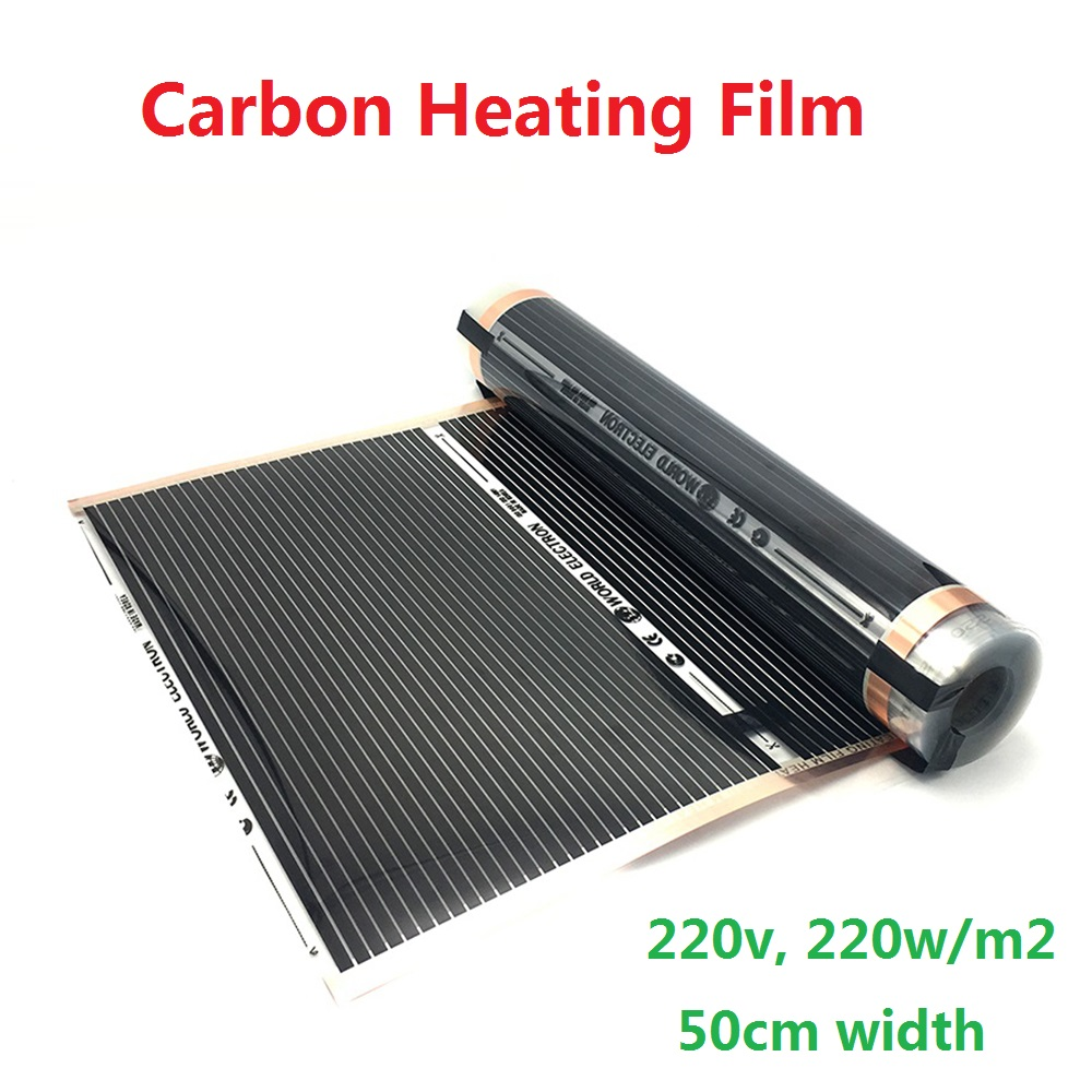 All Sizes 220w/m2 Carbon Infrared Underfloor Heating Film AC220V Korea Warm Mat