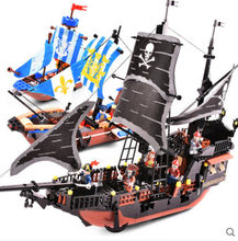 GUDI 652 pièces Pirates caraïbes noir perle fantôme navire grands modèles blocs de construction anniversaire cadeau Compatible Legoinglys Technic(China)