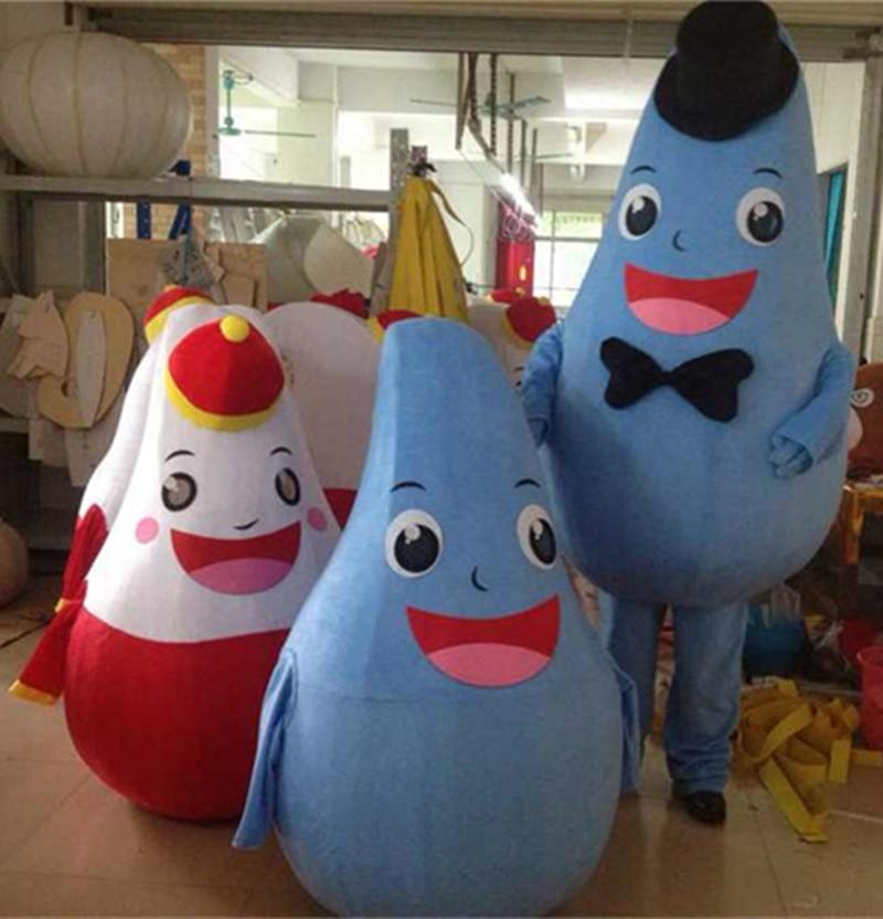 Mascotte goutte d'eau Costumes taille adulte carnaval Halloween fête de pâques événement tenue nouvel an mascotte de noël