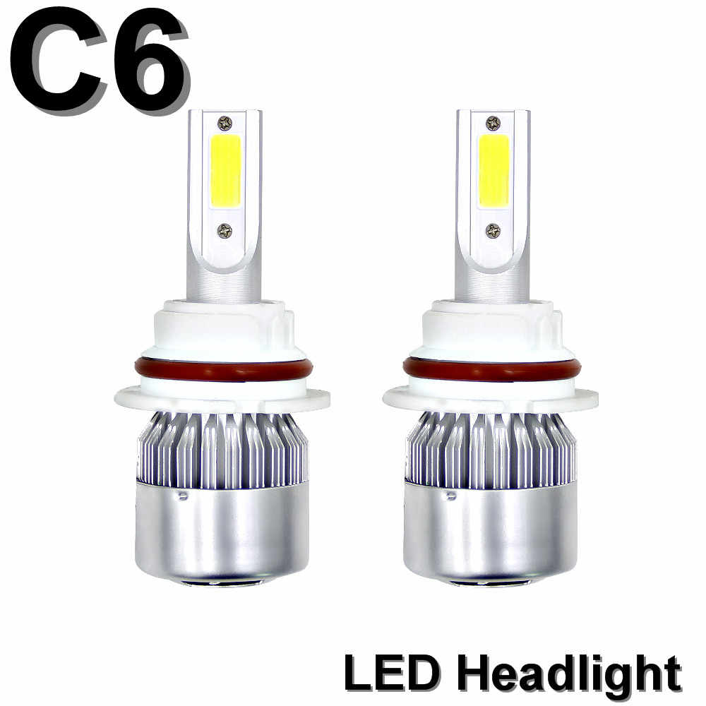 2PCS H7 H4 Led Headlight C6 COB Turbo Fan 12V 6000K H4 H1 H3 H1 9004 9006 Car Led Lamp 360 Degree Beam IP65 Watorproof
