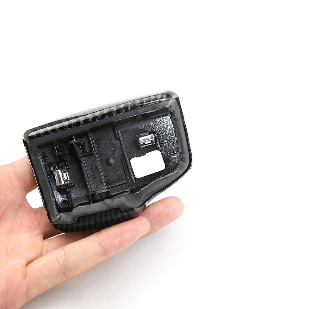 Zmiana biegów samochodu dźwignia głowy rama naklejka na Audi Sline A4 A5 Q5 Q7 przegroda nakrycie głowy pokrowce na dźwignię zmiany biegów pokrywa Auto akcesoria