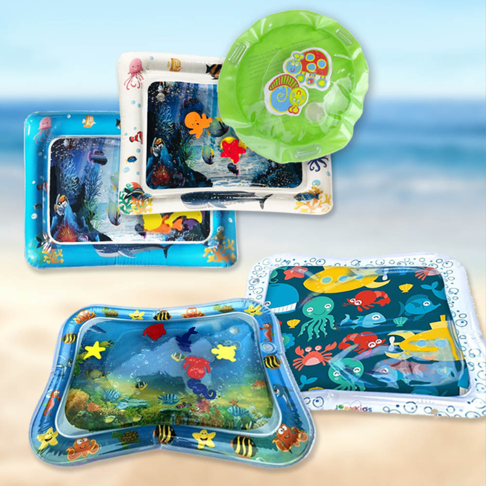 Dual Use Toy Baby Inflatable Knocked Pad Inflatable Water Pillow Pat Pad Multifunction Watere Patted Kids Water Cushion Ice Pad