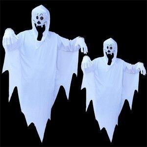 Image 1 - Disfraces de fiesta de Halloween de umarden, disfraz de fantasma blanco escalofriante a juego para Familia, traje de Cosplay para niños y adultos