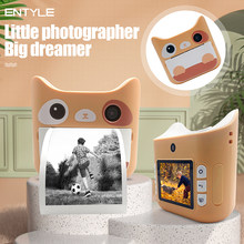 Câmera das crianças com impressão instantânea fotos câmera crianças brinquedos menino menina bonito presente de natal 1080p câmera digital de vídeo