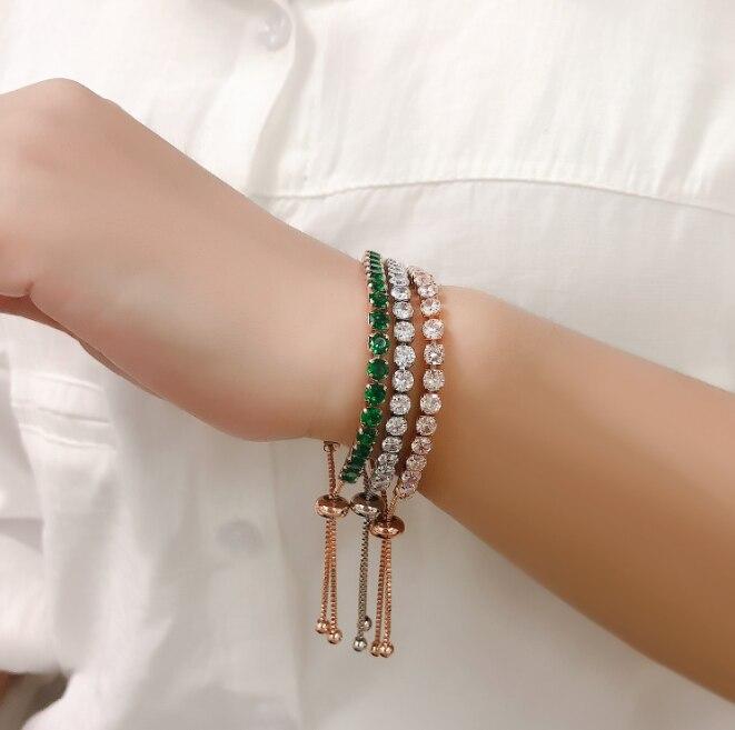 Инкрустированный цирконом, изысканный золотой цвет, ювелирное изделие с зеленым, фиолетовым и красным фианитом, индейский женский браслет ...