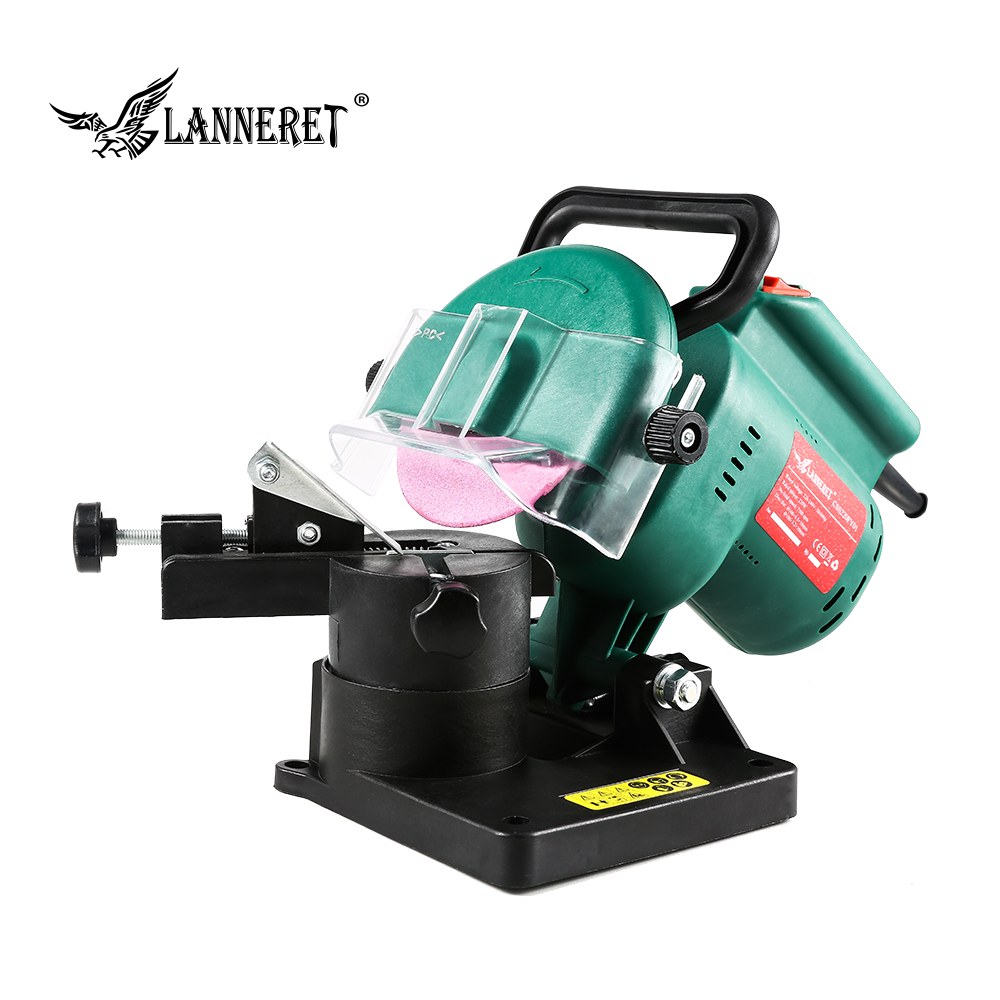 """LANNERET 220W 100mm 4"""" Inches Power Chain Saw Sharpener Grinder Machine Garden Tools Portable Electric Chainsaw Sharpener-in Grinders from Tools"""