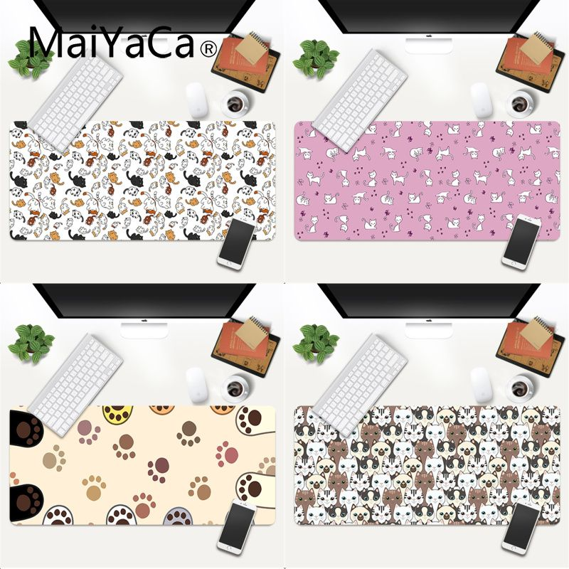 MaiYaCa Cartoon Cute Cats paw DIY Design Pattern Game mousepad Gaming Mouse Pad Large Deak Mat 700x300mm for overwatch/cs go