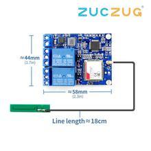 Módulo de canal de relé para bomba de oxígeno de invernadero, interruptor de Control remoto, SMS, GSM, SIM800C, STM32F103C8T6, 2 uds.
