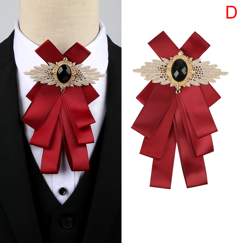 Women Men Ribbon Long Bowknot Bow Tie Brooches Necklace Prom Father/'s Day Gift