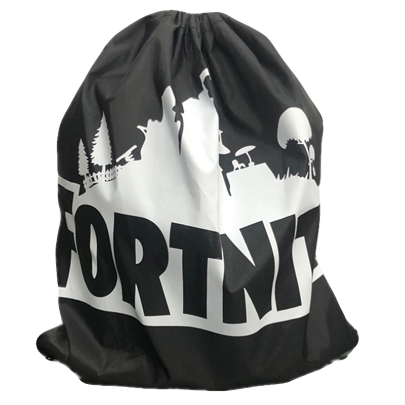 Simple Polyester Bundle Pocket Fortnite Backpack Gym Sport Fitness Foldable Shop Pocket Hiking Camping Pouch Beach Swimming Bag
