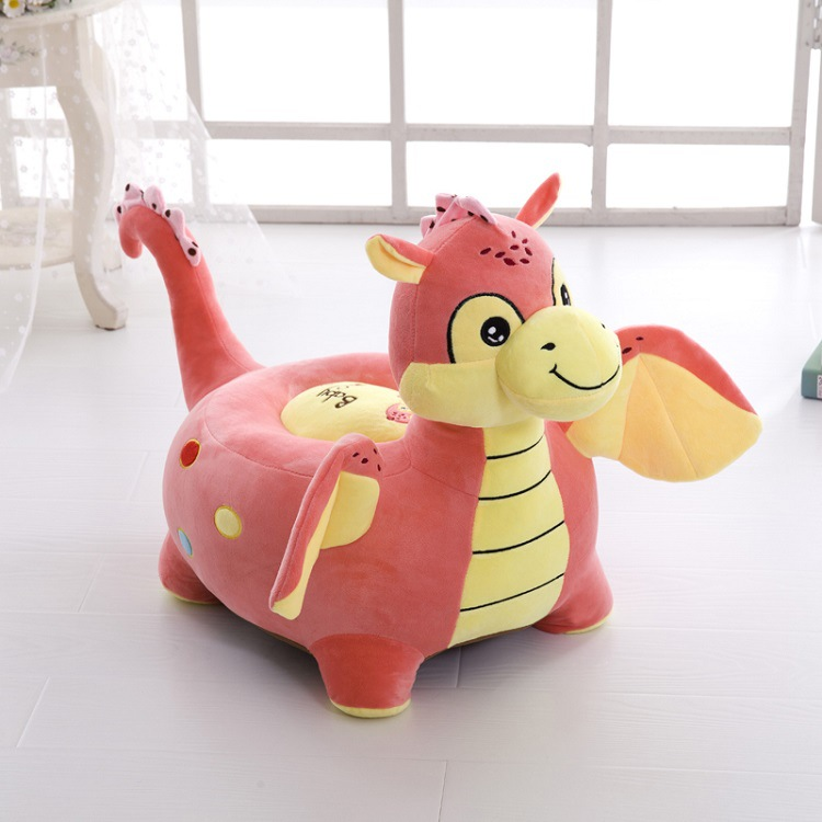 Creative Child Seat Cartoon Plush Toy Small Sofa Lazy Couch Stool Baby Seat Kids Stool Wooden Stool Outsoor Benches