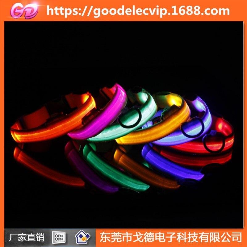 2.5 Cm Pet Highlight LED Light Dog Collar Luminous Collar Dog Rope