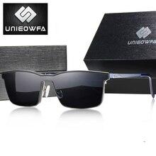 2 In 1 manyetik güneş gözlüğü üzerinde klip erkekler polarize reçete gözlük çerçevesi optik miyopi mıknatıs güneş gözlüğü erkekler için UV400