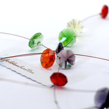 14mm Glass Crystal Octagon Beads 1 Hole Chandelier Parts Garland Strands Home Wedding Suncatcher Decor Hanging Pendant Beads free shipping top quality customized crystal glass beads garland strands diy crystal curtain for home decoration 22 1 2m lot