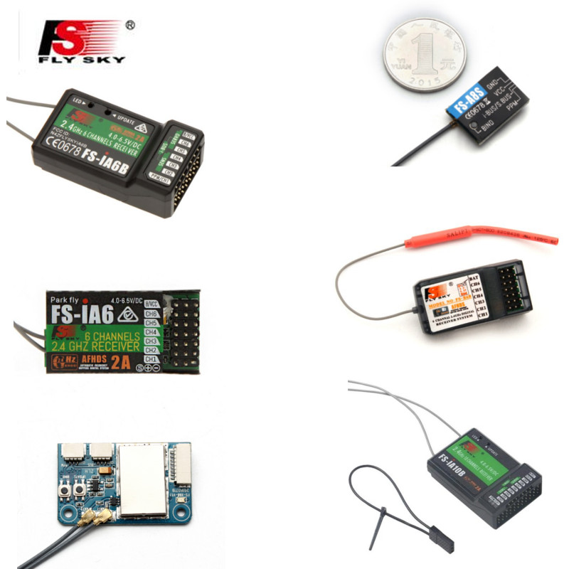 FLYSKY 2.4G IA6 IA6B X6B A8S V2 R6B GR3F GR3E R9B X8B IA10B BS6 A3 GR4 RC FPV Drone Car Receiver For I6 I6s I6x Transmitter
