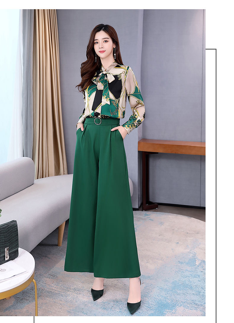 H6818bb7c3bdd4e5c9f35fdaea1fa8891x - Summer Two Piece Set OL Women Sets Plus Size Two Piece Set Top And Pants Wide Leg Pants Woman Tracksuit /outfit/suit/Set 2 Piece