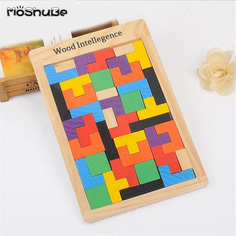 Baby Educational Toys Katamino Blocks Wood Learning Tetris Blocks  Building Blocks Children Wooden Toys Gift Toys For Children