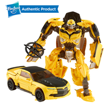 Hasbro Transformers The Last Knight Premier Edition Deluxe Bumblebee Action Figure One Step Changer Kid Toys цена и фото
