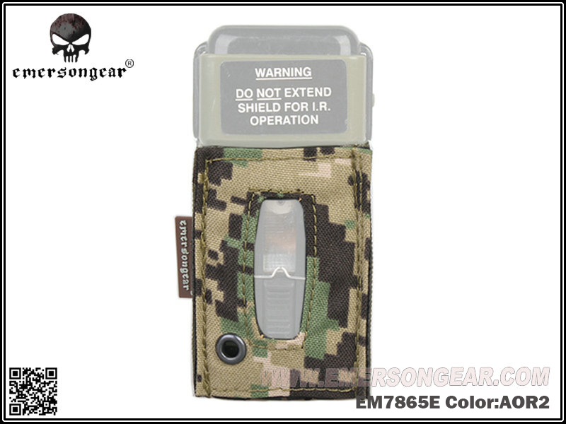 Image 4 - emersongear Emerson MS2000 Tactical Strobe Light Protective Pouch Distress Marker Carrier Hook & Loop For Mounting Helmets-in Pouches from Sports & Entertainment