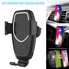 Car Phone Holder Fast Charging Wireless Chargers Mobile Bracket for Smartphone LHB99