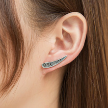 2019 hot fashion alloy metal tree leaf geometry ear clip for women girl retro creative personality earrings hanging