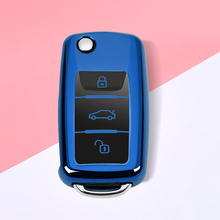 Soft TPU Car Key Case Cover For VW Volkswagen Polo Tiguan Passat B5 B6 B7 Golf 4 5 6 MK6 Jetta Lavida For Skoda Octavia Styling