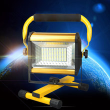 EU/US Rechargeable 100 LED Flood Light Handheld Spotlight Searchlight Outdoor Camping Lantern Project Construction Lamp