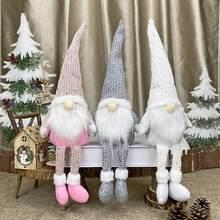 Fengriseクリスマス顔のない人形メリークリスマスの装飾ホームcristmas装飾クリスマスナヴィダード出生新年2021