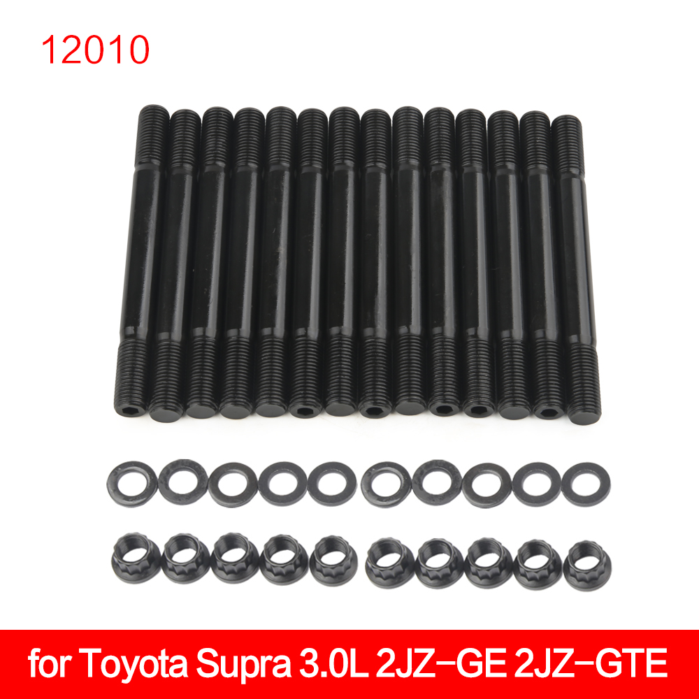 203-4205 HEAD STUD KIT For Toyota Supra 3.0L 2JZ-GE 2JZ-GTE 12010
