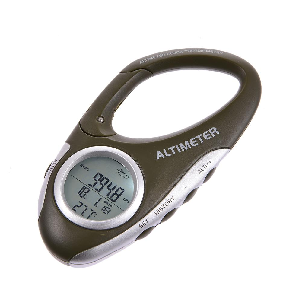 Multi-function Carabiner Altimeter Thermometer Weather Monitor Portable For Outdoor Climbing Camping Altimeter Barometer