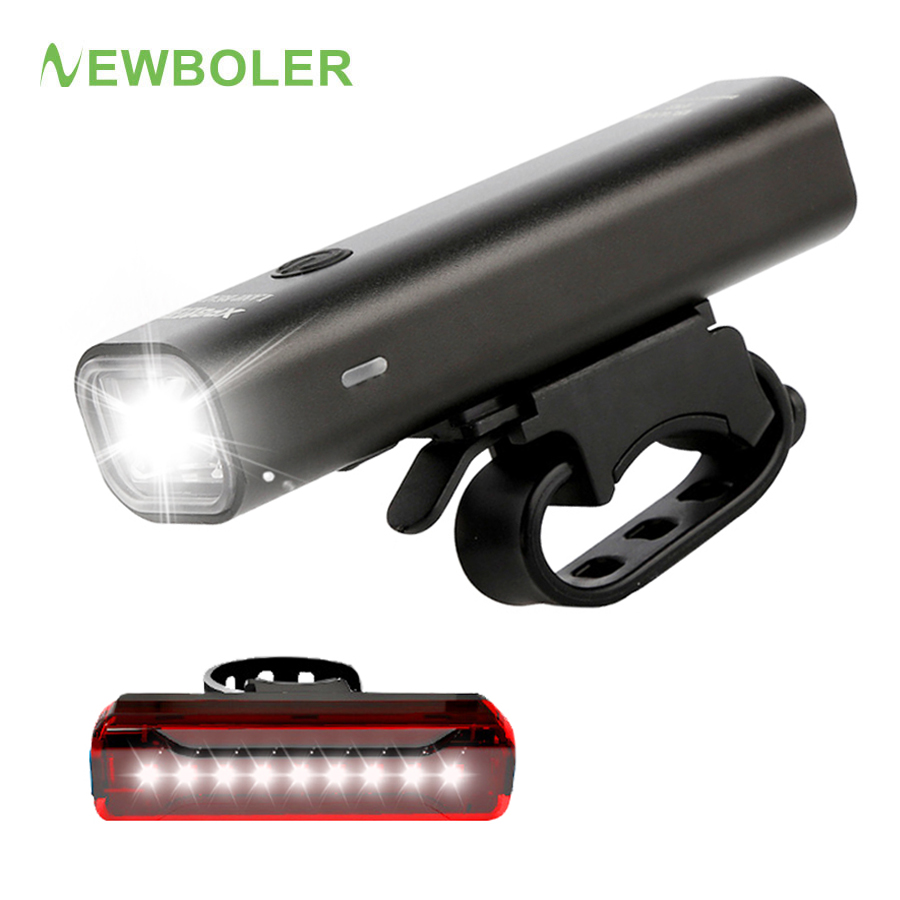 LED Bike Light Waterproof USB Rechargeable Front Lamp Aluminum Cycles Headlights