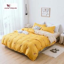 SlowDream Bedding Set Bedspread Luxury Duvet Cover Double Sheets Twin Queen King Bed Linen Set Cartoon
