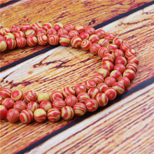 Red Malachite Natural Stone Bead Round Loose Spaced Beads 15 Inch Strand 4/6/8/10/12mm For Jewelry Making DIY Bracelet