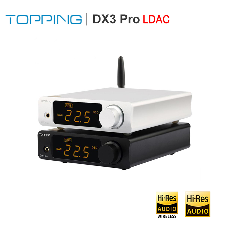 TOPPING DX3 PRO LDAC HIFI DSD DAC Bluetooth Amplifier AK4493 OPA1612 DSD512 XMOS XU208 Decoder USB DAC with Headphone Amp output-in Digital-to-Analog Converter from Consumer Electronics    1